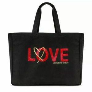 Victoria Secret Love Tote NWT sequined VS bag